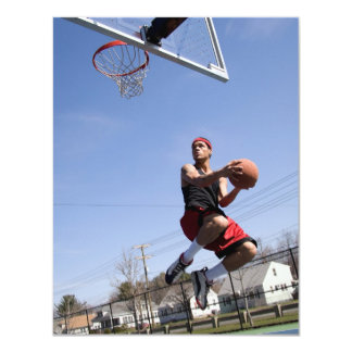 Man Playing Basketball 4.25x5.5 Paper Invitation Card