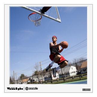 Man Playing Basketball Wall Decal
