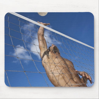 Man playing beach volleyball mouse pad