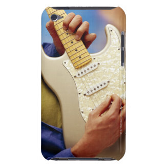 Man playing electric guitar barely there iPod cover