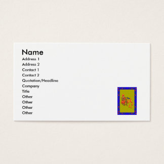 Man playing flute, Dancing Fire Business Card