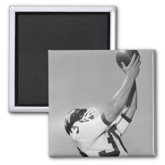 Man Playing Football 2 Inch Square Magnet