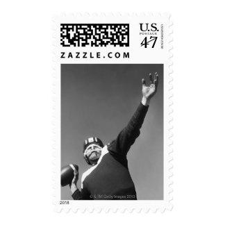 Man Playing Football 2 Postage Stamp