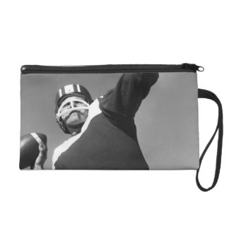 Man Playing Football 2 Wristlet Clutches
