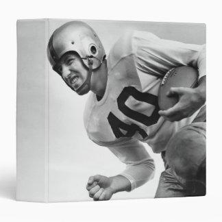 Man Playing Football 3 3 Ring Binder