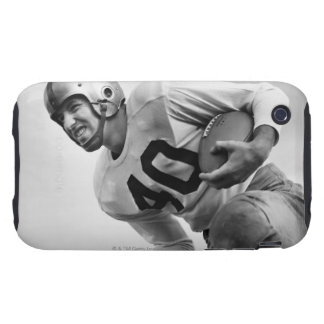 Man Playing Football 3 iPhone 3 Tough Cases