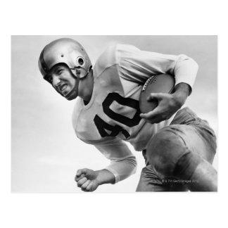 Man Playing Football 3 Postcard
