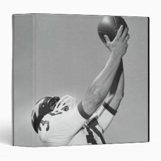 Man Playing Football 3 Ring Binder