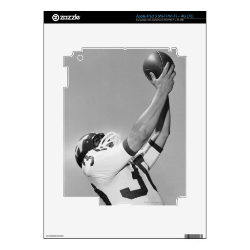 Man Playing Football Decal For iPad 3