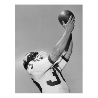 Man Playing Football Postcard