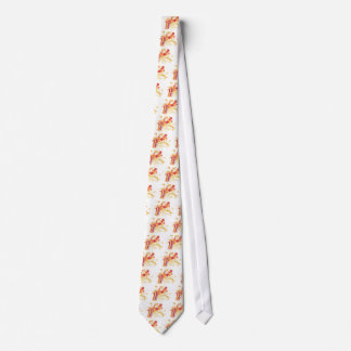 Man Playing Jazzy Saxophone Watercolor Style Neck Tie
