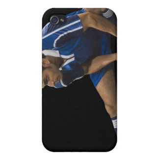 Man playing soccer cases for iPhone 4
