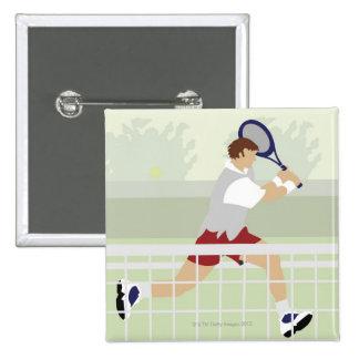 Man playing tennis 2 button