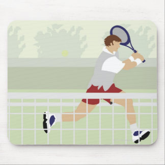 Man playing tennis 2 mouse pad