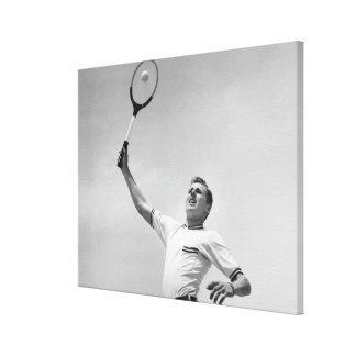 Man playing tennis canvas print
