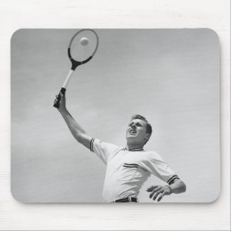 Man playing tennis mouse pad