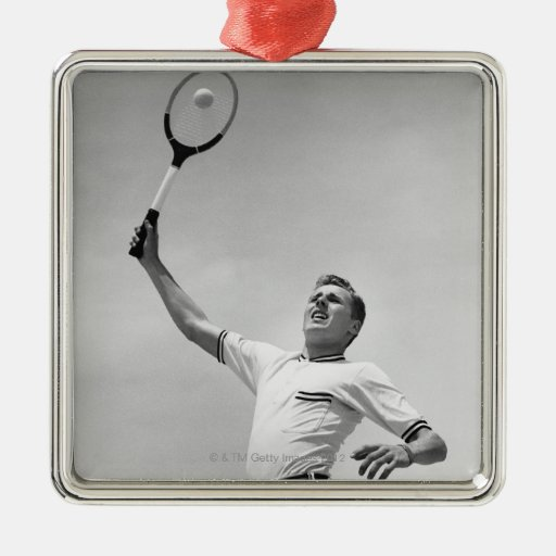Man playing tennis ornaments