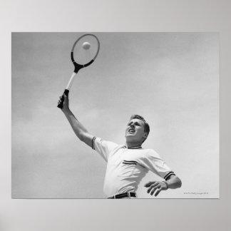 Man playing tennis poster