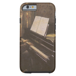 Man Playing The Piano by Caillebotte, Vintage Art Tough iPhone 6 Case