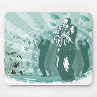 Man Playing The Trumpet Mouse Pad