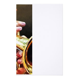 Man Playing Trumpet Stationery