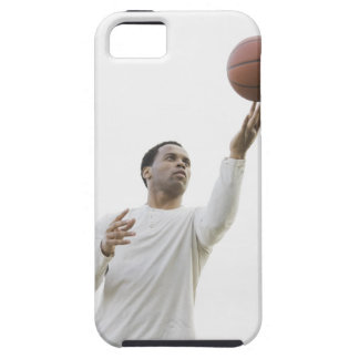 Man playing with basketball, studio shot iPhone SE/5/5s case