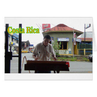 Man playing xylophone Costa Rica Card