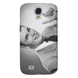 Man Pointing 2 Galaxy S4 Cover