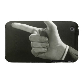 Man Pointing iPhone 3 Case-Mate Cases