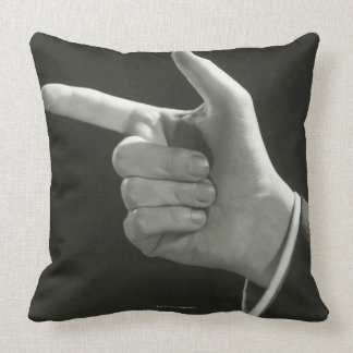 Man Pointing Pillow
