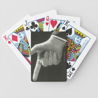 Man Pointing Playing Cards