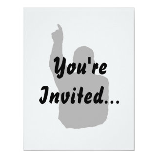 man pointing up shadow 4.25x5.5 paper invitation card