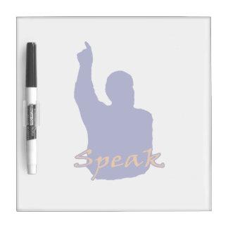 man pointing up shadow speak text blue orange dry erase whiteboard
