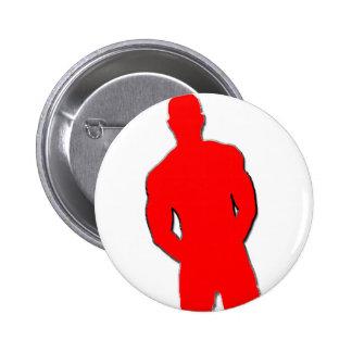Man Posing Pinback Button