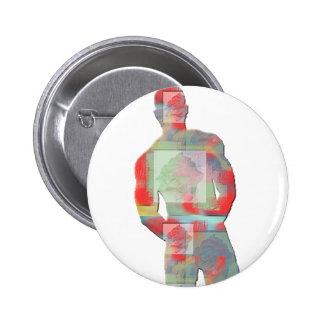 Man Posing Pinback Buttons