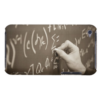Man printing math equations on a chalkboard barely there iPod cover