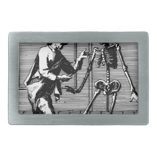 Man Proposing to a Skeleton Belt Buckle