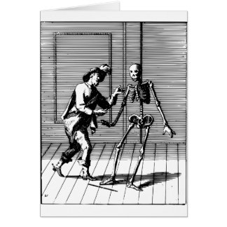 Man Proposing to a Skeleton Card