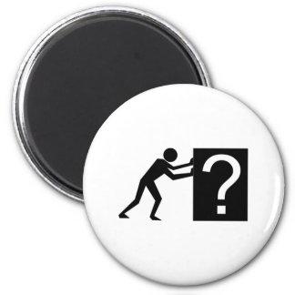 Man Pushing an Object Magnet