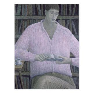 Man Reading 1998 Postcard
