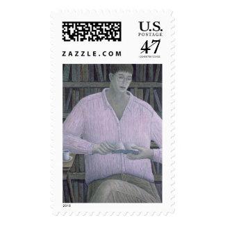 Man Reading 1998 Stamp