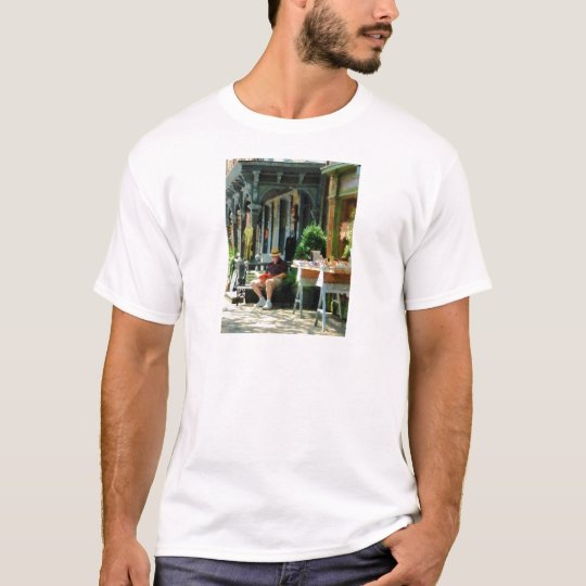 Man Reading by Book Stall T-Shirt