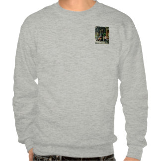 Man Reading by Book Stall Pullover Sweatshirts