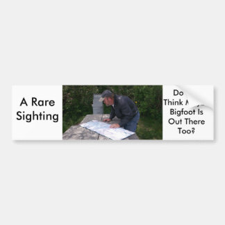 Man Reading Map With Bear Proof Trash Can 4 Bumper Sticker