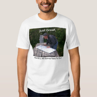 Man Reading Map With Bear Proof Trash Can 4 Shirt