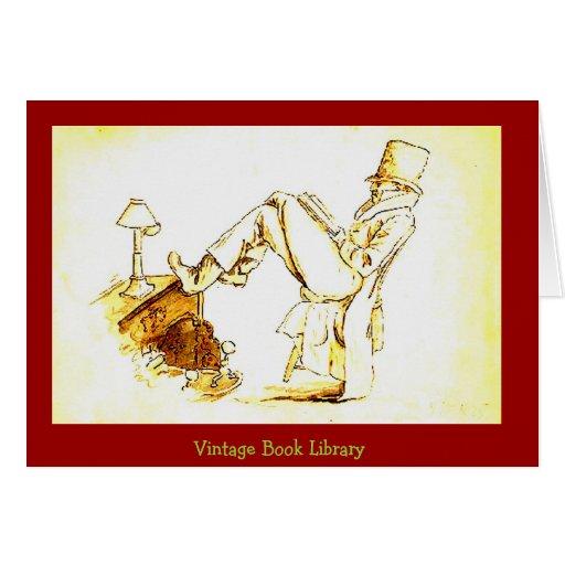 Man Reading - sketch Greeting Card
