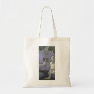 Man reading to Girl 2003 Tote Bag