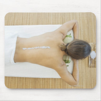 Man receiving spa treatment mouse pad