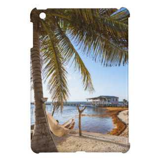 Man Relaxing In A Hammock Under Palm Tree, Belize iPad Mini Covers