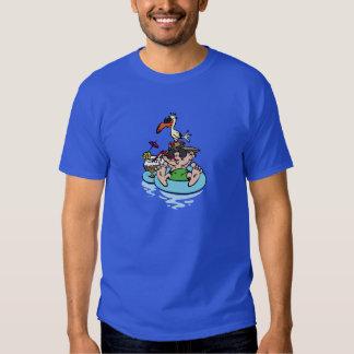 Man Relaxing in Pool T Shirt